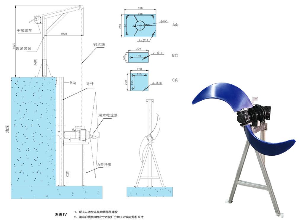 潜水推流器 QJB1.5/4-1100/2-85P